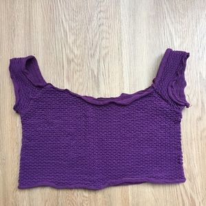 Free People purple stretch crop top 💜